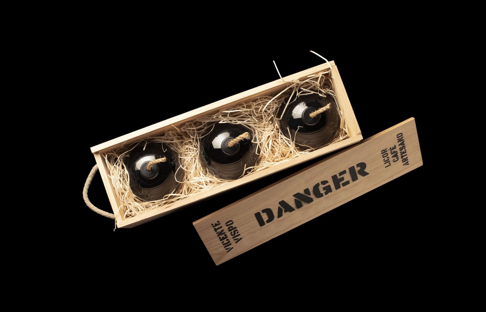 danger coffee packaging liquori